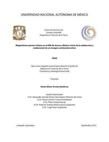 Arvizu Gutierrez Harim Elmer - Centro de Geociencias ::.. UNAM
