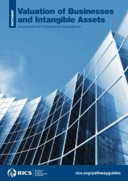 RICS Valuation of Businesses and Intangible Assets Pathway Guide