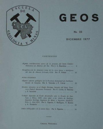 Page 1 GEOS No. 23 DICIEMBRE 1977 CONTENIDO Afgmmf ...
