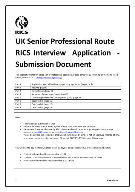 rics apc case study guide