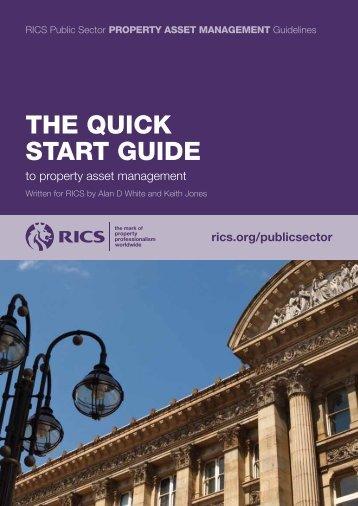 QUICK START GUIDE to property asset management - RICS