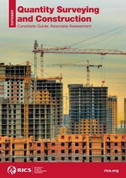 Quantity surveying and construction candidate guide - RICS