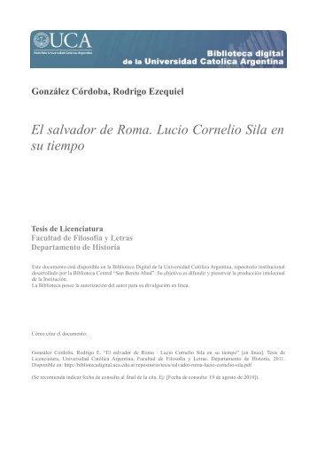 El salvador de Roma. Lucio Cornelio Sila en su tiempo - Biblioteca ...
