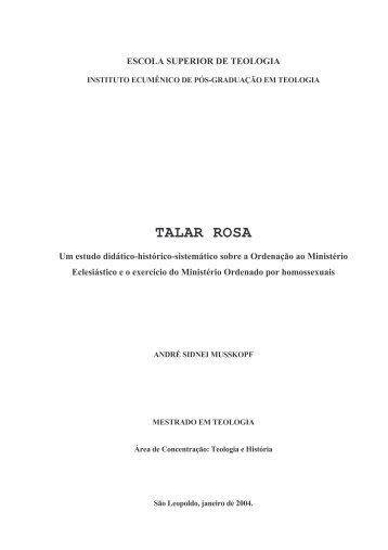 TALAR ROSA - Faculdades EST