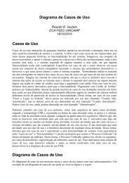Diagrama de Casos de Uso - DCA - Unicamp