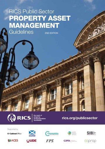 PUBLIC SECTOR property asset management guidelines - RICS