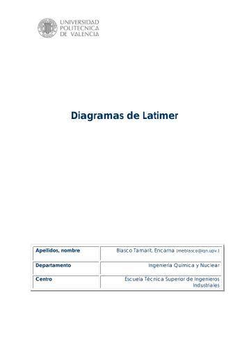 Diagramas de Latimer - RiuNet