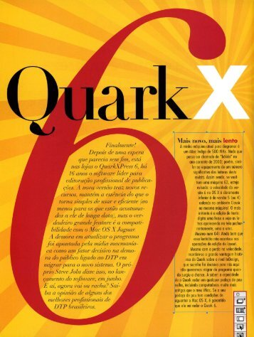 QuarkXpress 6 - Prata da Casa