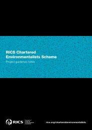 RICS Chartered Environmentalists Scheme