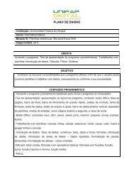 plano de ensino - Unifap