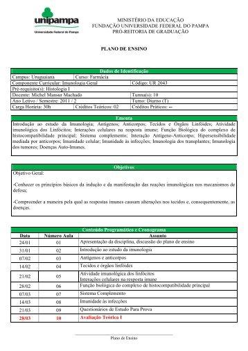 Imunologia Geral - UNIPAMPA Cursos