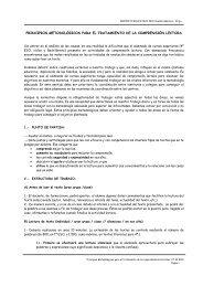 PRINCIPIOS METODOLÓGICOS COMPRENSIÓN LECTORA