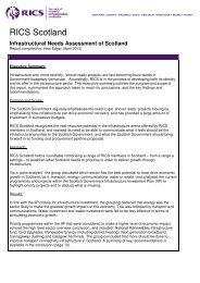 Infrastructural Needs Assessment of Scotland - RICS