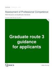 Graduate route 3 guidance for applicants - RICS