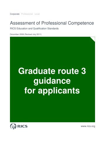 Graduate route 3 guidance for applicants - RICS