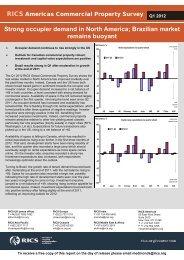 RICS Americas Commercial Property Survey Q1