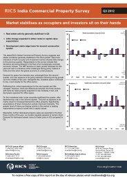 RICS India Commercial Property Survey Q3 2012