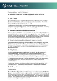 RICS Regulatory Board Meeting Note 14 March 2012