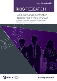 Real Estate and Construction Professionals in India by 2020 - RICS