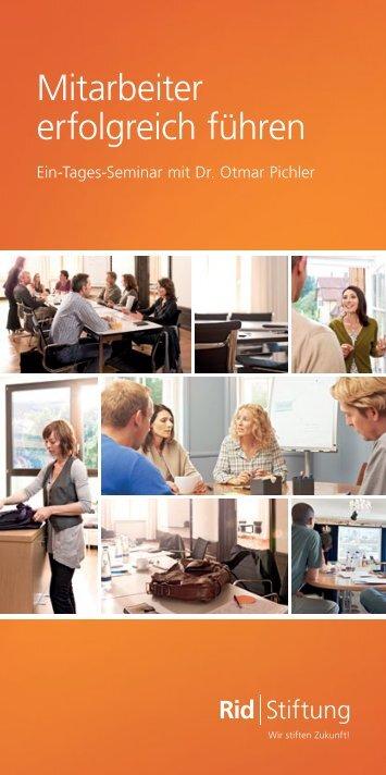 Mitarbeiter erfolgreich führen - Rid Stiftung