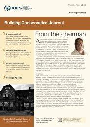 Building Conservation Journal - RICS