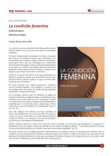 La condición femenina - Virtualia