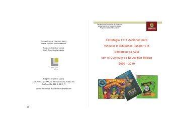 Estrategia 11+1 Acciones para Vincular la Biblioteca Escolar ... - SEV