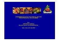 Lineamientos de pólitica para el sector Hortofrutícola ... - Asohofrucol