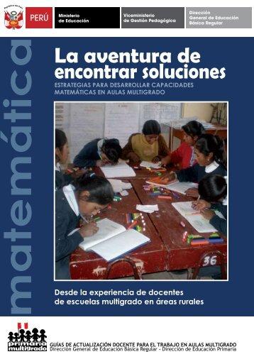 La aventura de encontrar soluciones - Educación Básica Regular ...