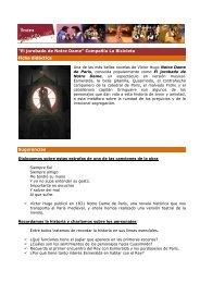 Ficha didáctica El jorobado de Notre Dame - Teatro Sanpol