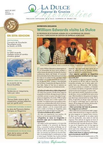 INFORMATIVO Mayo 2007 Año II Edición N° 10 - La Dulce ...