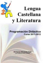 Programación Departamento LCL 2011-2012