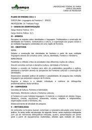 Linguagens de Fronteira I - UNIPAMPA Cursos