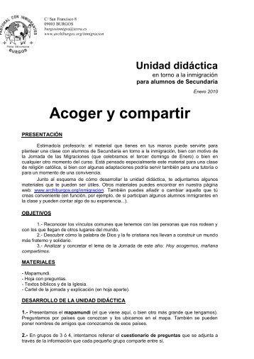 Unidad didáctica Secundaria 2010