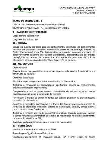 universidade federal do pampa campus jaguarão curso de pedagogia