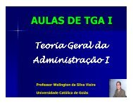 AULAS DE TGA I - Área Administrativa Docente
