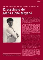 el asesinato de María elena Moyano - Tarea