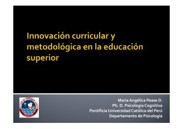 Innovación curricular y metodológica en la educación superior_MAP