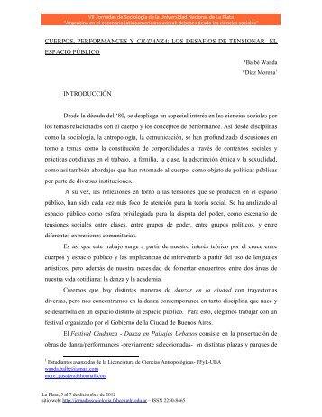LOS DESAFÍOS DE TENSIONAR EL ESPACIO PÚBLICO ...