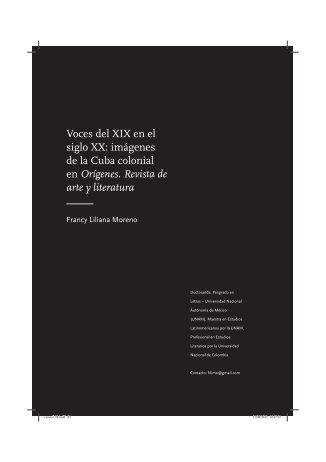 Voces del XIX en el siglo XX: imágenes de la Cuba colonial ... - fflch