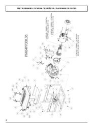 8 parts drawing / schema des pièces / diagrama de ... - Powermate