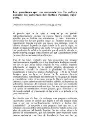 sobre la política cultural de los gobiernos del - José Luis González ...
