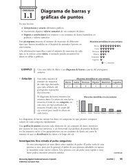 Diagrama de barras y gráficas de puntos