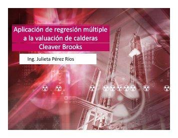 Aplicación de regresión múltiple a la valuación de calderas Cleaver ...