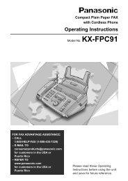 Panasonic KX-FPC91 Fax Machine.pdf - TextFiles.com
