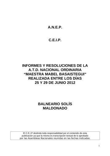 maestra mabel basaistegui - Consejo de Educación Inicial y Primaria