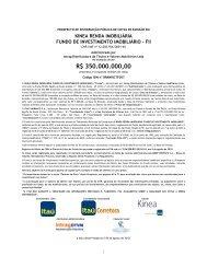 Prospecto FII Kinea Exigências CVM 03 08 2010 ... - BM&FBovespa