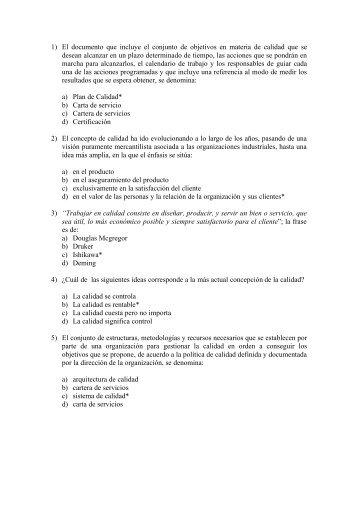 1) El documento que incluye el conjunto de objetivos en materia de ...