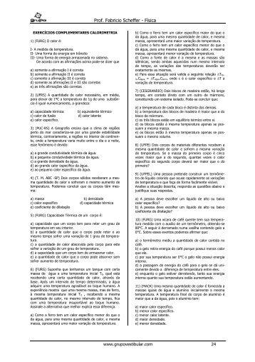 Testes 13 - Calorimetria
