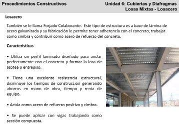 Procedimientos Constructivos Unidad 6: Cubiertas y Diafragmas ...